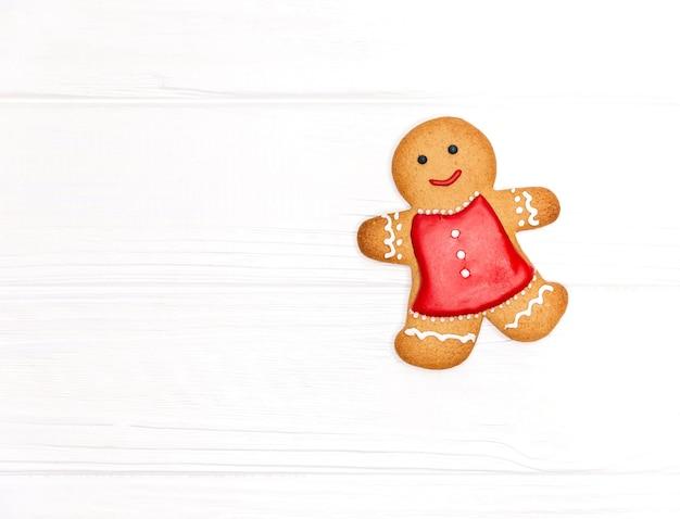 Ontwerpsjabloon voor zelfgemaakte gerechten. kerstkoekjes. gingerbread man cookie voor kerstfeestvakantie.