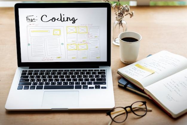 Ontwikkel codering webdesign codering websjabloon