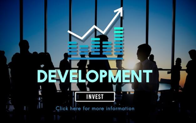 Ontwikkeling verbetering management succes concept