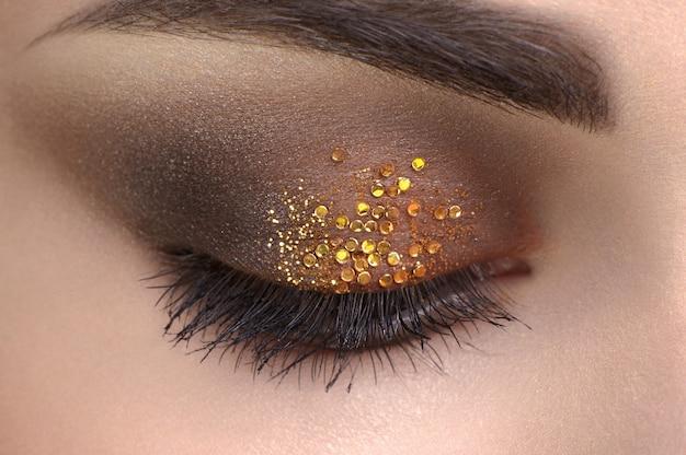 Oog close-up, make-up