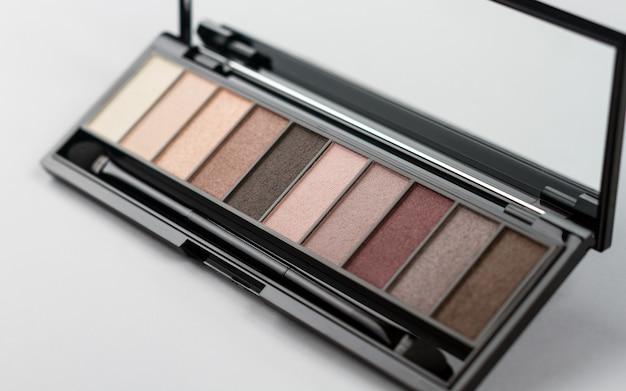 Oogschaduwpalet poeder close-up - make-up poeder kleurvariatie