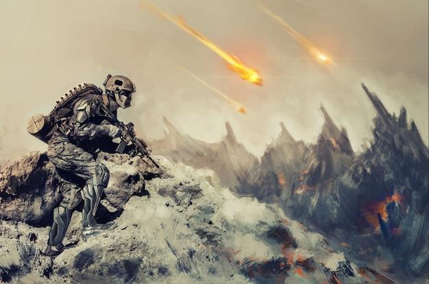Oorlog op een buitenaardse planeet
