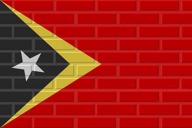 Oost-timor baksteen vlag illustratie