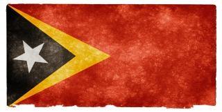 Oost-timor grunge vlag oost-timor