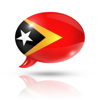 Oost-timor vlag tekstballon