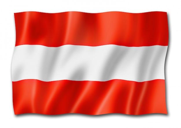 Oostenrijkse vlag geïsoleerd