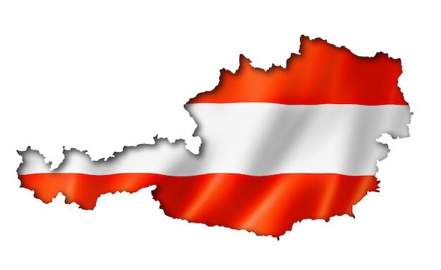 Oostenrijkse vlag kaart