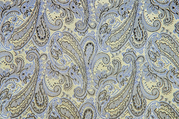 Oosters of paisley, turkse komkommer, tear of allah, indiase of turkse beanbuta, perzische cipres ornament achtergrondstructuur