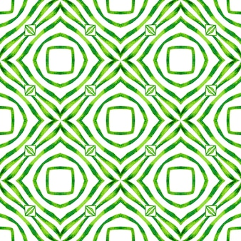 Oosterse arabesque hand getekende grens. groen charmant boho chic zomerontwerp. arabesque handgetekend ontwerp.