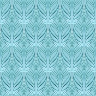 Oosterse naadloze blauwe patroon. abstract.