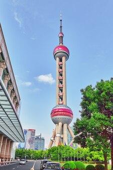 Oosterse pareltoren. de hoogste gebouwen van shanghai. china.