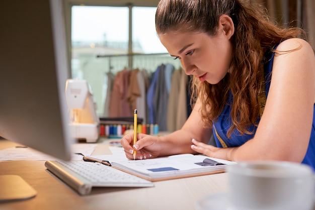 Op maat planning werk in notebook