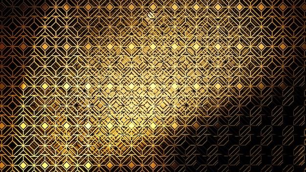 Op patroonstijl art deco achtergrond voor behang in gatsby en art deco-scène.