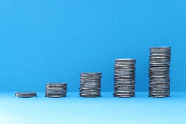 Op tafel staan piramides van moment in oplopende volgorde toename van financiële stromen tot