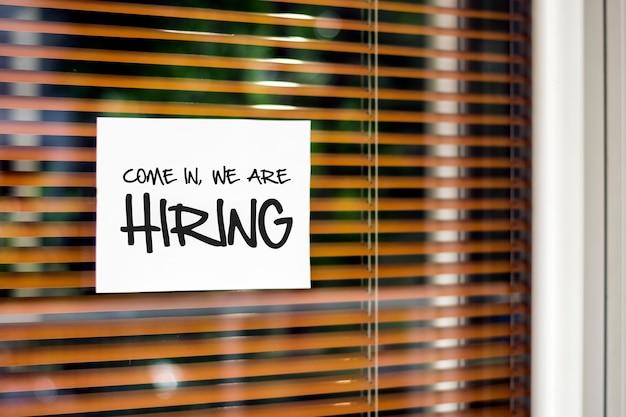 Op zoek naar nieuwe werknemers