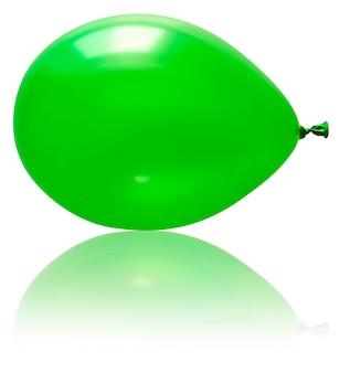 Opblaasbare ballon, foto op de witte achtergrond