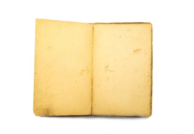 Open boek op witte achtergrond
