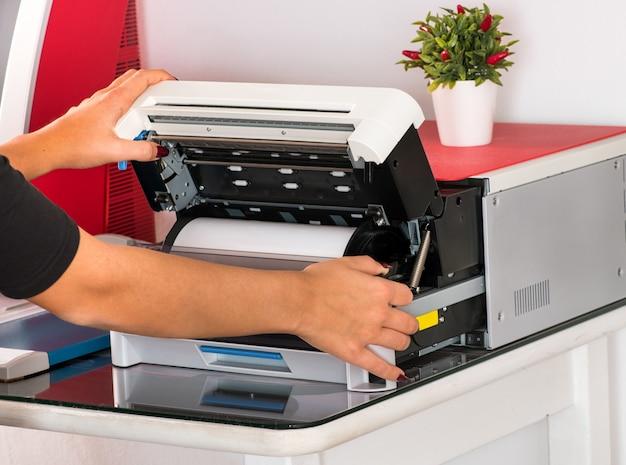 Open een sublimatieprinter
