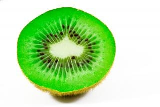 Open kiwi close up