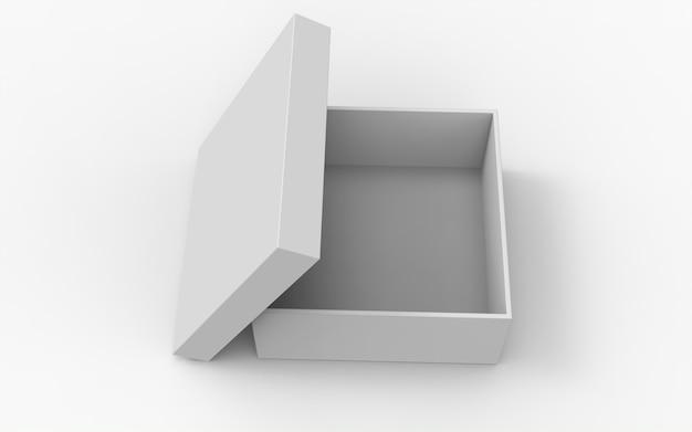 Open pakket vierkante dozen met open dop