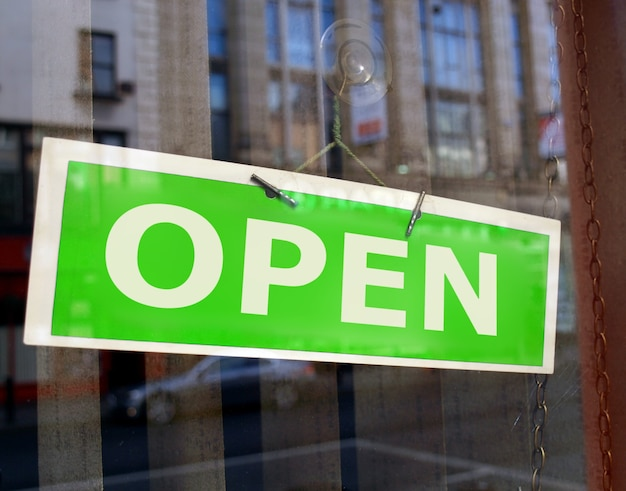Open winkel teken