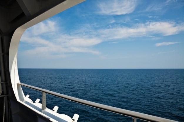 Open zee landschap