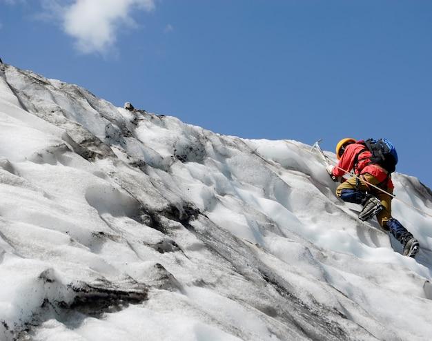 Opgaande bergbeklimmer