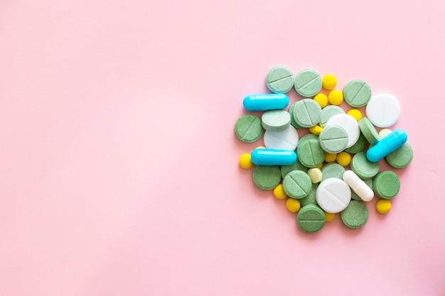 Opioid pillen. opioïde epidemie en concept van drugsmisbruik