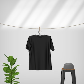 Opknoping t-shirt op touw