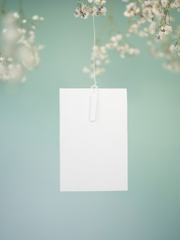 Opknoping trouwkaart vooraanzicht