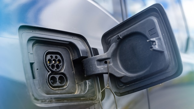Oplaadpunt van een elektrische auto