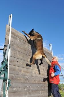 Opleiding van politiehond