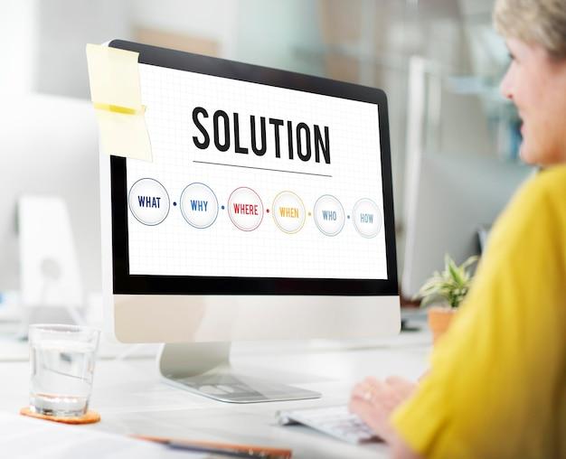 Oplossing probleemoplossing deel ideeën concept