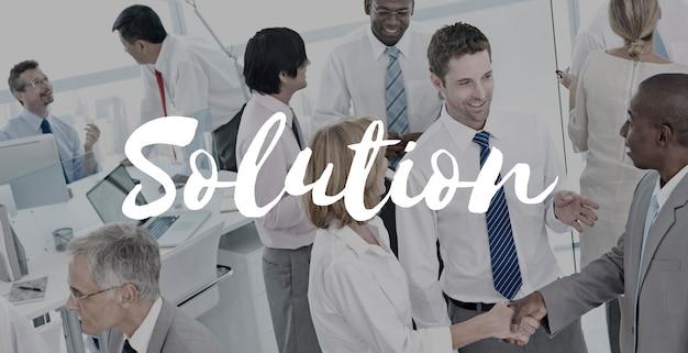 Oplossingsbeslissing ontdekking verbetering oplossen concept