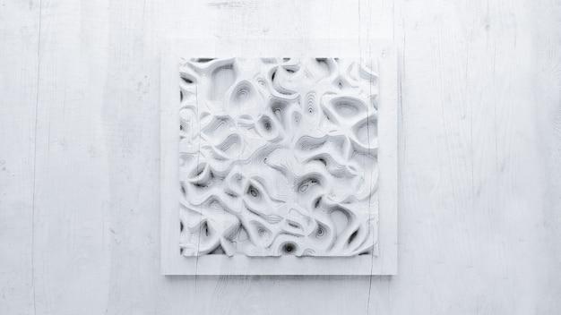 Opluchting abstracte textuur gemaakt van hout, steen of ander materiaal. 3d-afbeelding, 3d-rendering.