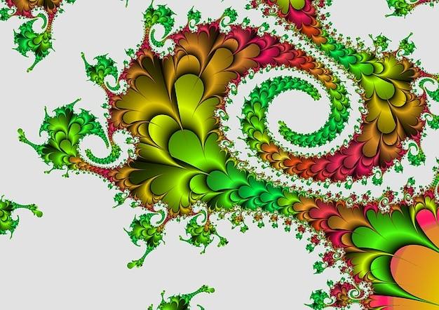 Oppervlak esthetische patroon fractal abstract