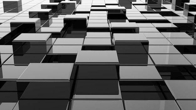 Oppervlak gemaakt van zwarte blokjes