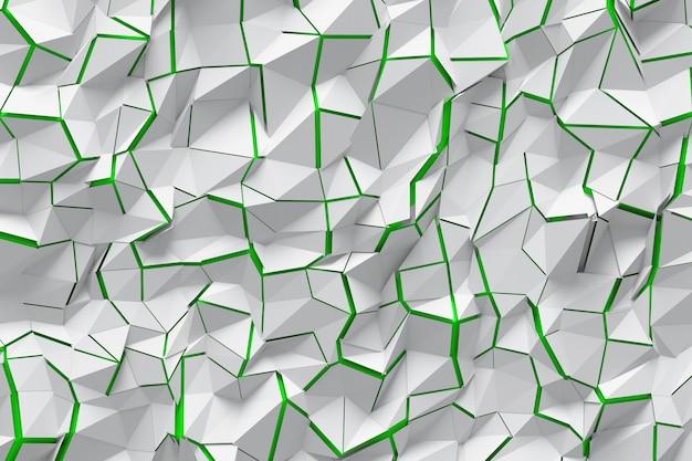 Oppervlak met scheuren en groene achtergrond