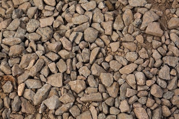 Oppervlak van de grindfractie als natuurlijke achtergrond. close-up shot