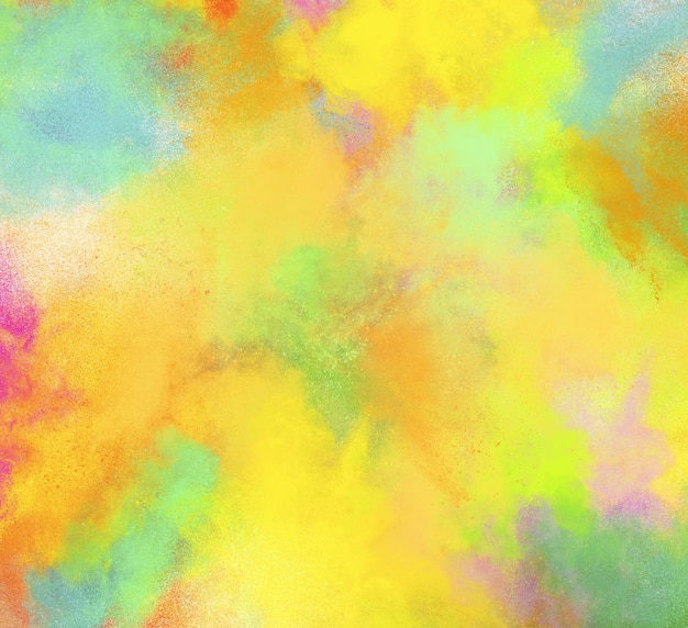 Oppervlak van explosieve gekleurde poeders en glinsterende