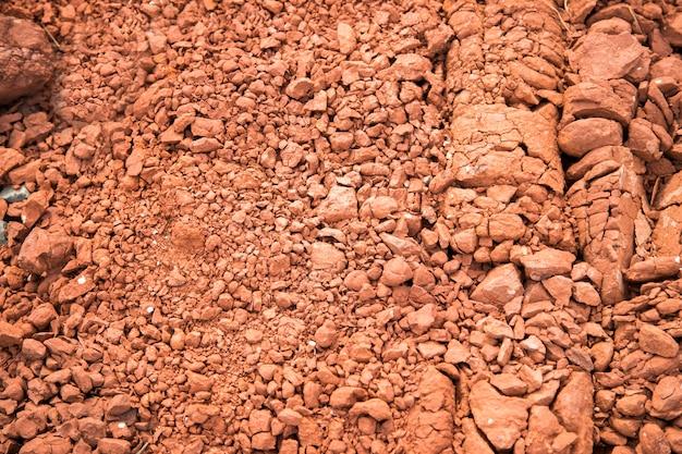 Oppervlak van het drogen van rode aarde