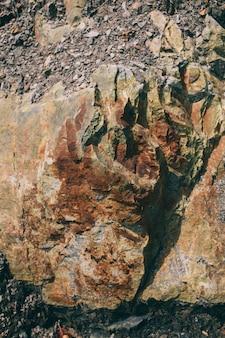 Oppervlak van het marmer met bruine tint stones textuur en achtergrond rock textuur