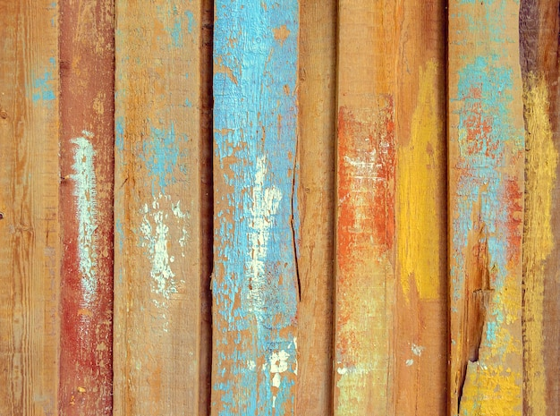 Oppervlak van oud hout geschilderd kleurrijke plank achtergrond