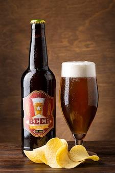 Opstelling met heerlijk amerikaans bier