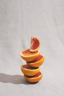 Opstelling met heerlijke grapefruit