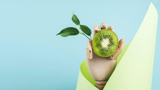 Opstelling van heerlijke verse kiwi's