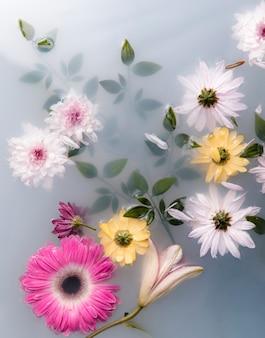 Opstelling van spa-therapeutische bloemen