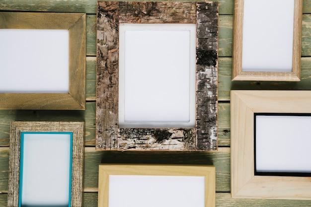 Opstelling van verschillende frames