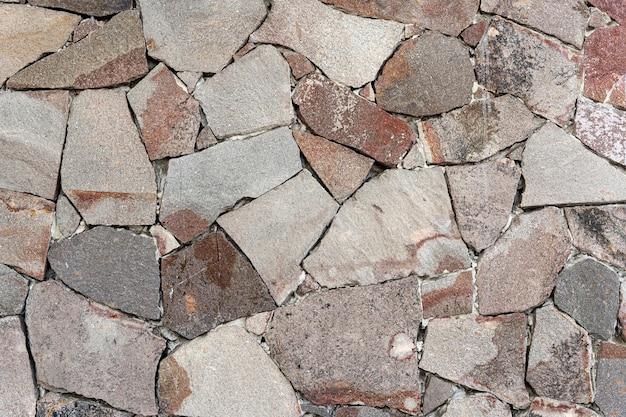 Opstelling van verschillende vormen van mozaïekmuur