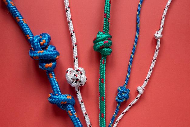 Opstelling van zeemans touw knoop